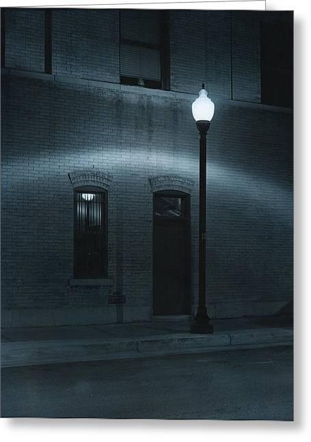Street Lamp Arc Greeting Card by Jim Furrer