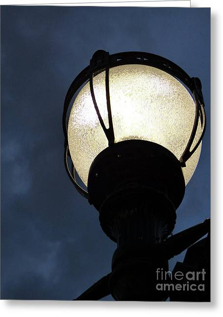 Street Lamp At Night Greeting Card