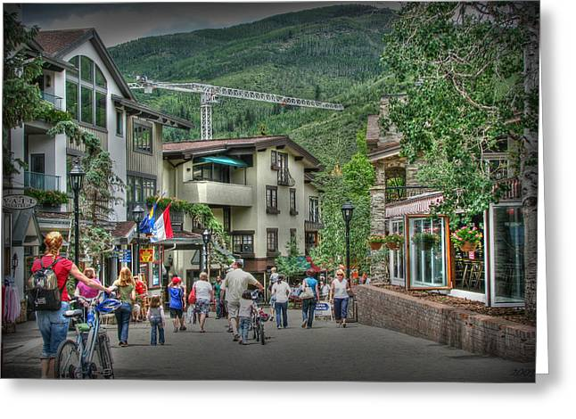 Street Life In Vail Greeting Card