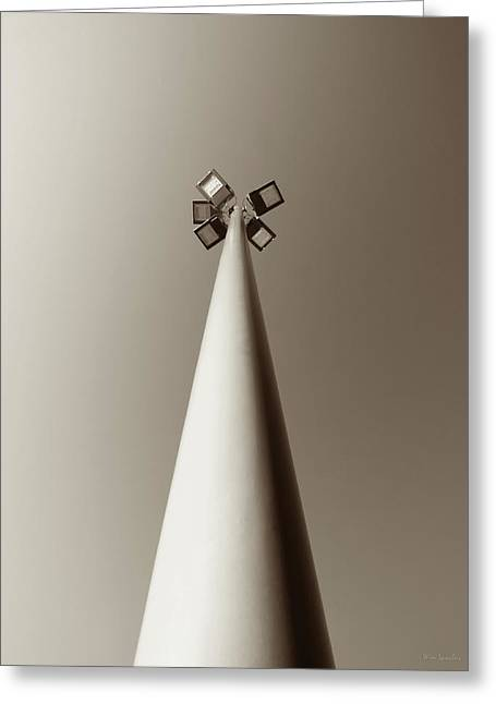 Street Light Greeting Card by Wim Lanclus