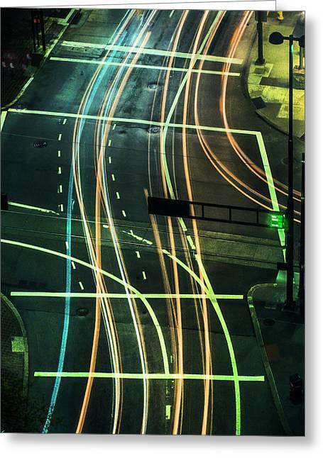 Street Lights Greeting Card by Scott Meyer