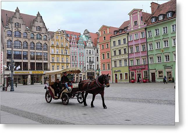 Greeting Card featuring the photograph Wroclaw Rynek by Dubi Roman