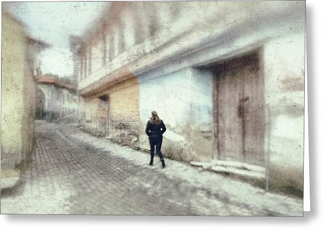 Street Greeting Card by Okan YILMAZ