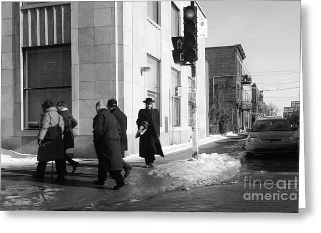 Street Photos Montreal Greeting Card by Reb Frost