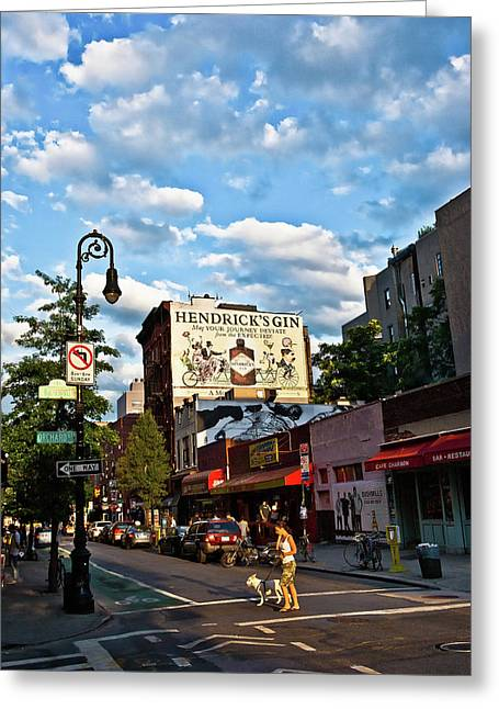 Street Scene In New York Greeting Card