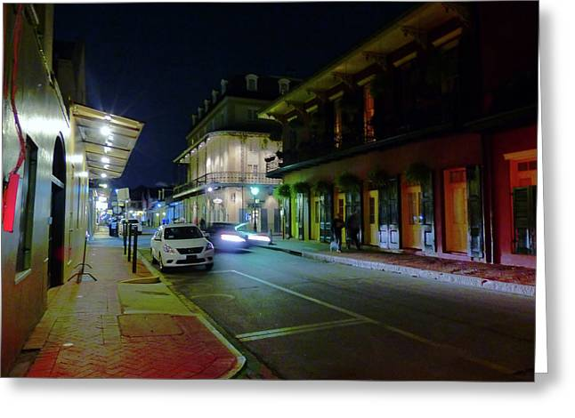 French Quarter Street Scene Greeting Card
