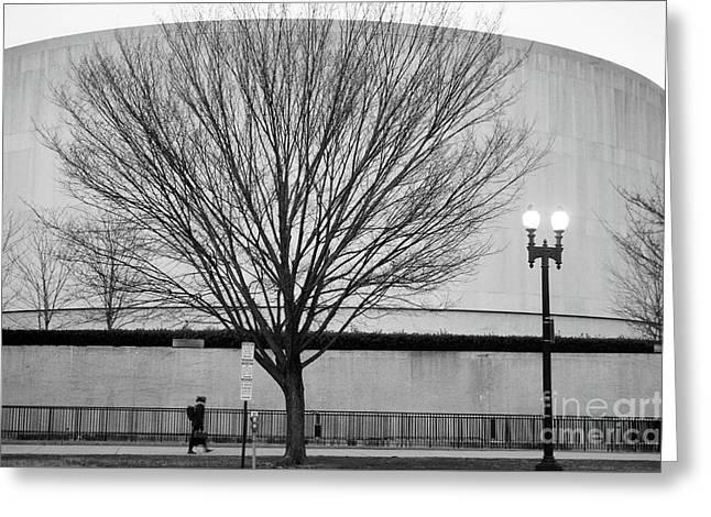 Street Shot At The Hirshorn  Greeting Card
