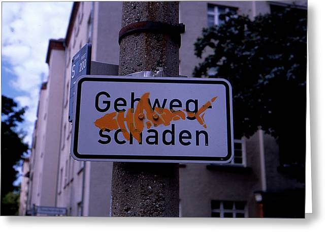 Street Sign With Graffiti Greeting Card