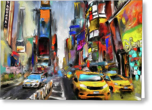 Street Symphonies V 462 1 Greeting Card by Mawra Tahreem