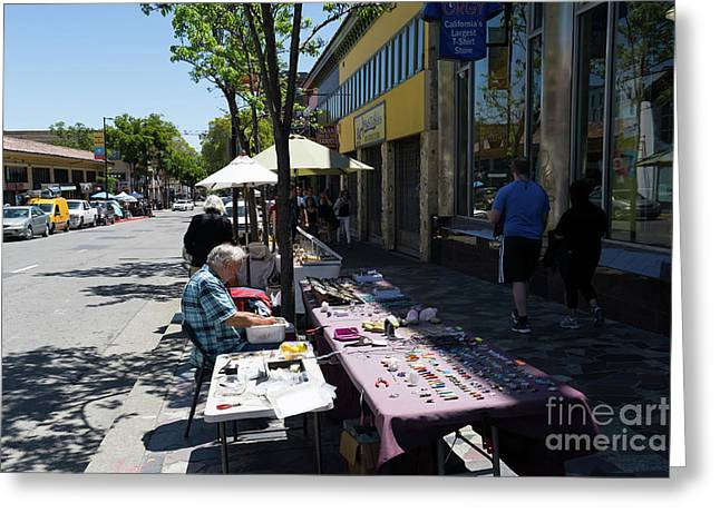 Street Vendors On Telegraph Avenue At University Of California Berkeley Dsc6236 Greeting Card