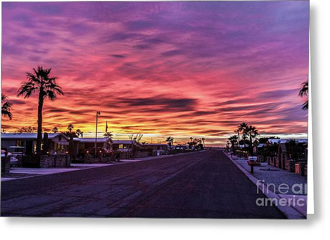 Street View Greeting Card by Robert Bales