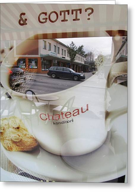 Street View To Your Coffee Greeting Card