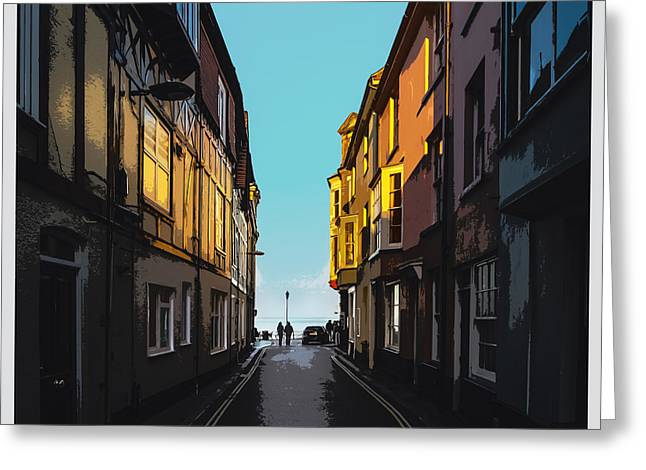 Street With A View Greeting Card