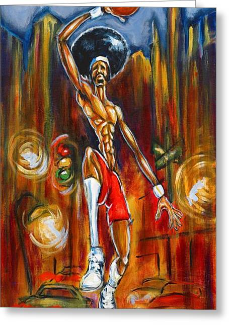 Streetball Greeting Card by Daryl Price