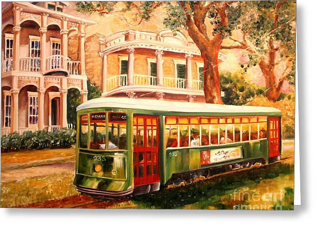 Streetcar In The Garden District Greeting Card