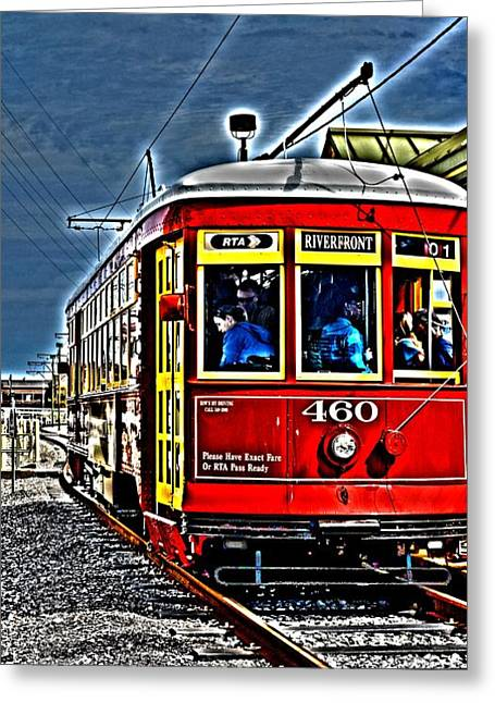 Streetcar Greeting Card by Janice Spivey
