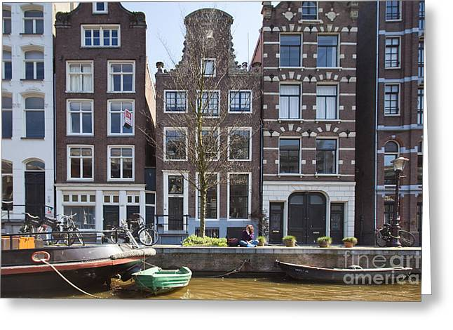 Streets And Channels Of Amsterdam Greeting Card by Andre Goncalves