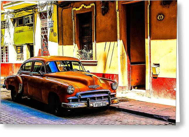 Streets Of Havana Greeting Card