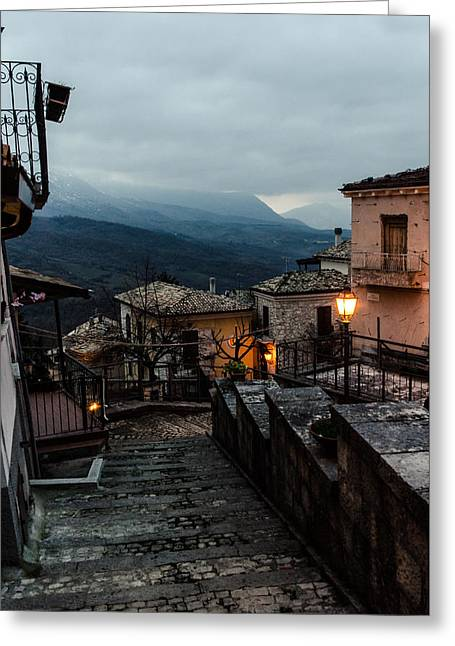 Streets Of Italy - Caramanico 3 Greeting Card by Andrea Mazzocchetti
