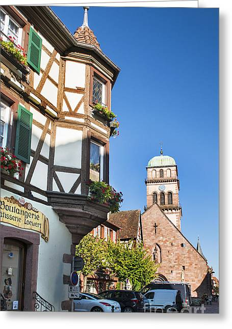 Streets Of Kaysersberg Greeting Card by Yefim Bam