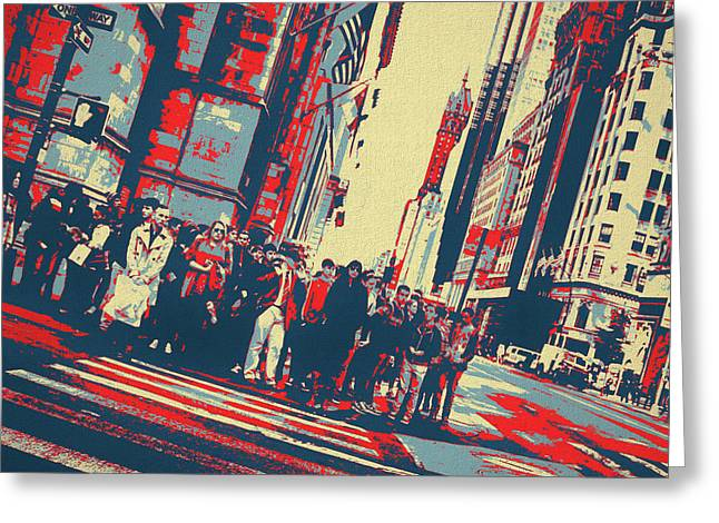 Streets Of Manhattan Greeting Card