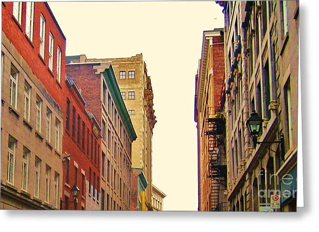 Streets Of Montreal Greeting Card by Reb Frost