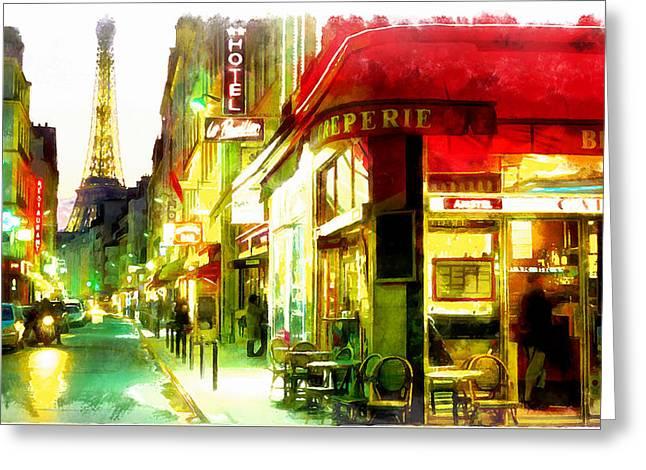 Streets Of Paris Greeting Card
