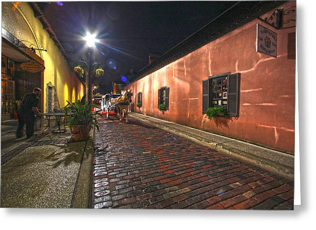 Streets Of St Augustine Greeting Card by Robert Och