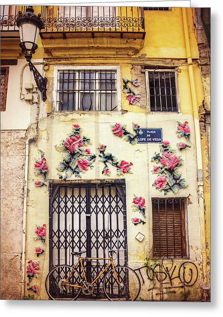 Streets Of Valencia  Greeting Card by Carol Japp