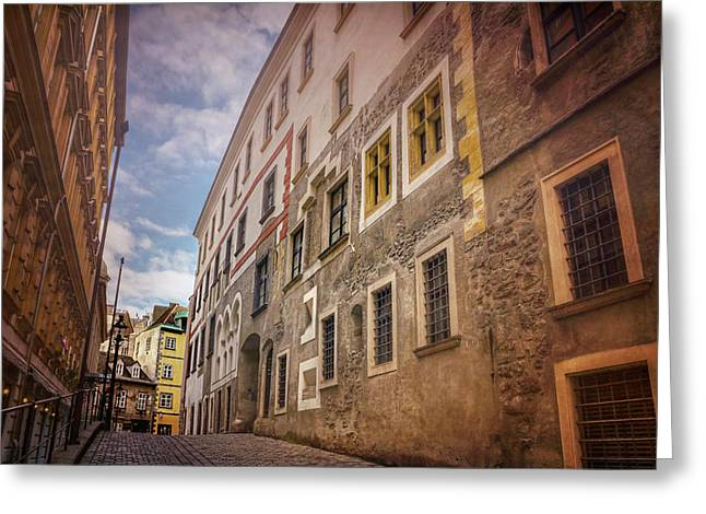 Streets Of Vienna Austria  Greeting Card
