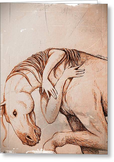 Strength And Affection Greeting Card by Paulo Zerbato