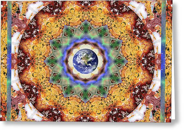 Light Blue Chakra Greeting Cards - Strength Greeting Card by Bell And Todd
