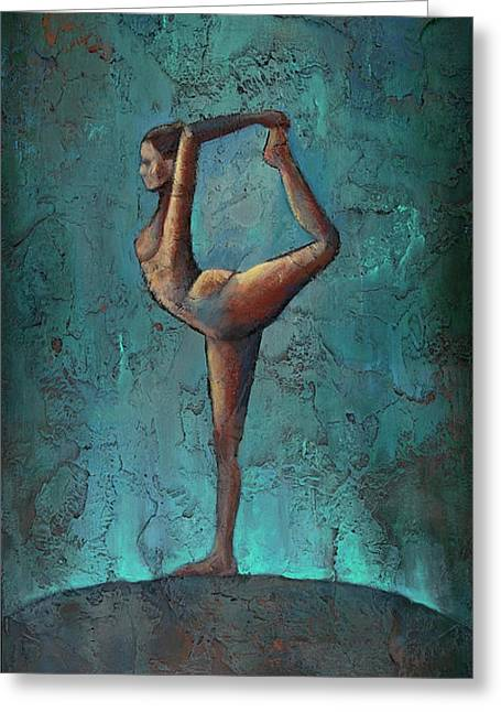 Nude Textured Greeting Cards - Stretch Greeting Card by Jane Hunt
