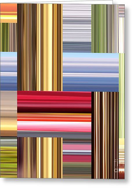 Stretch Of Colors Greeting Card by Phil Perkins