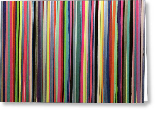 Striations Multi Greeting Card by Margalit Romano