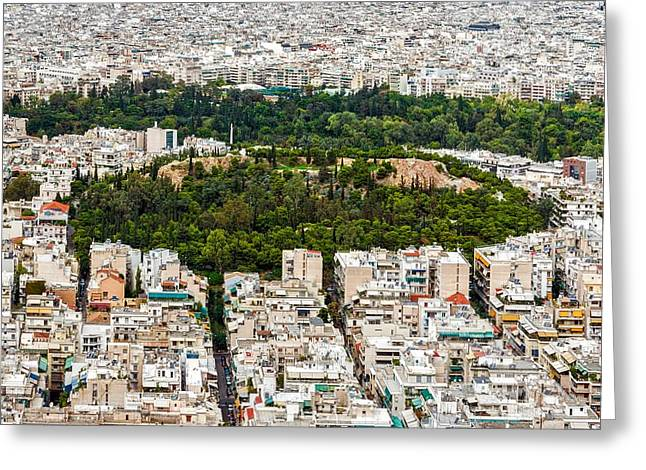 Strifi Hill In Athens Greeting Card by Jebulon