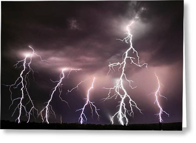 Striking Memories Thunderstorm Greeting Card by Reid Callaway