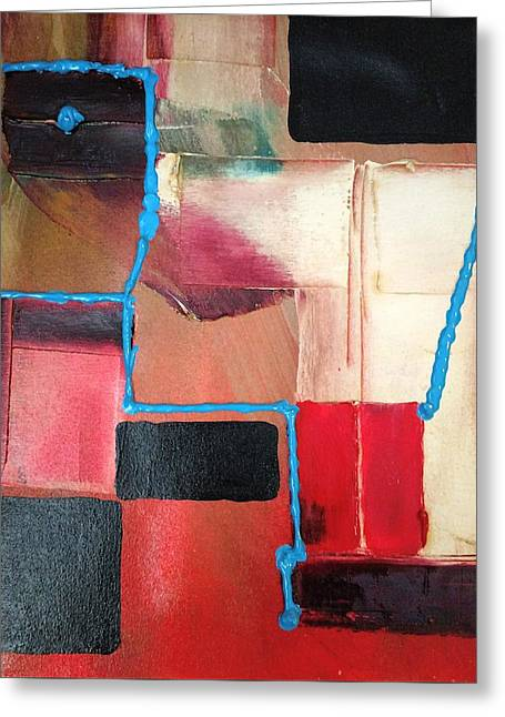 String Theory Abstraction Greeting Card