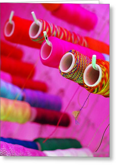 Greeting Card featuring the photograph String Theory by Skip Hunt