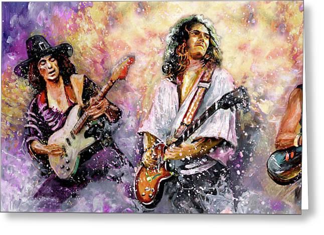 Strings Of Deep Purple Greeting Card