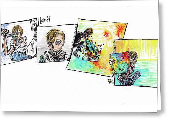 Strip Greeting Card by Trevor Davy
