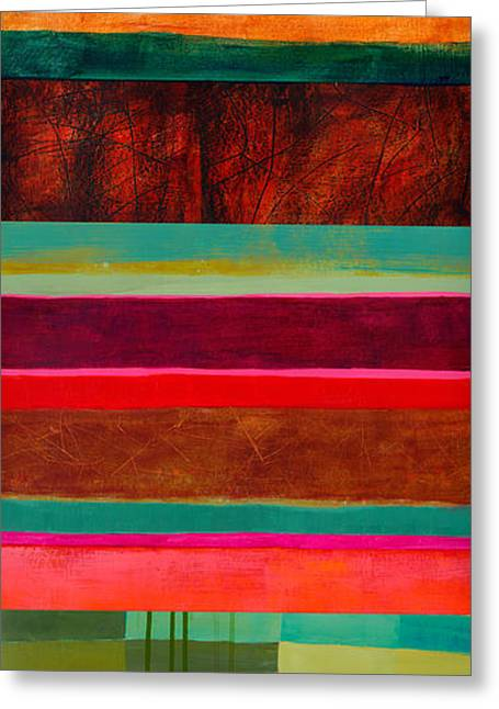 Stripe Assemblage 1 Greeting Card
