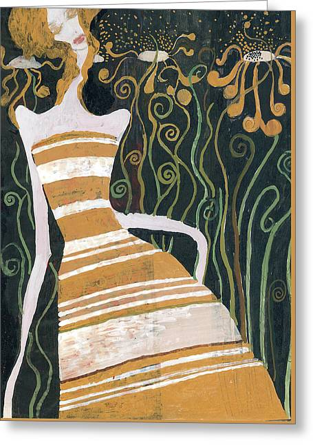 Stripe Dress Greeting Card