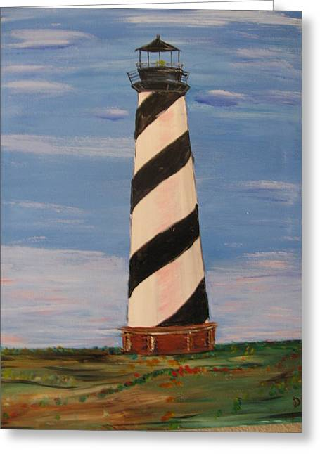 Striped Sentinal Greeting Card by Dennis Poyant