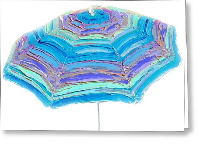 Striped Umbrella Greeting Card
