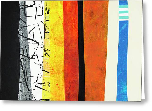 Greeting Card featuring the mixed media Stripes by Elena Nosyreva
