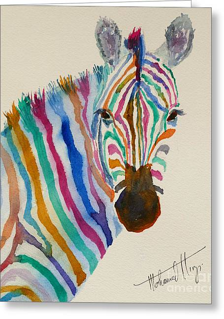 Stripes Greeting Card by Mohamed Hirji