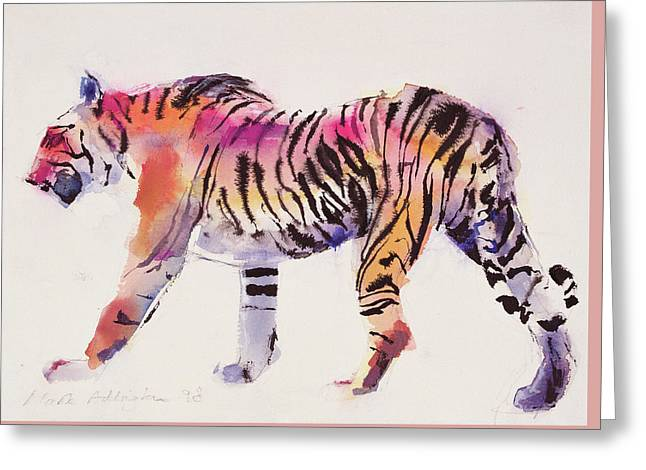 Stripey Greeting Card by Mark Adlington
