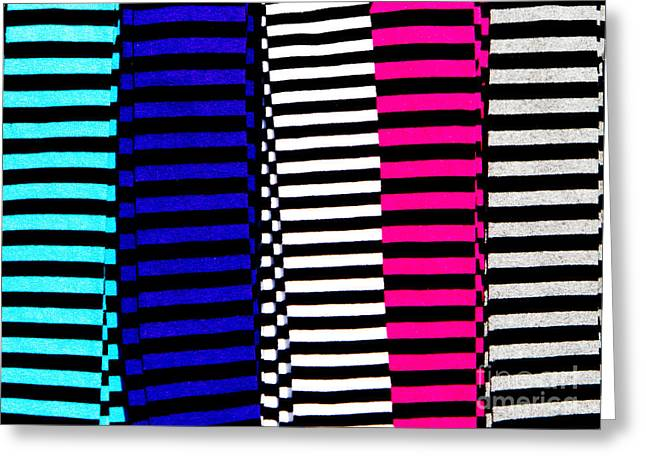Stripey Tubes Greeting Card by Andy Smy