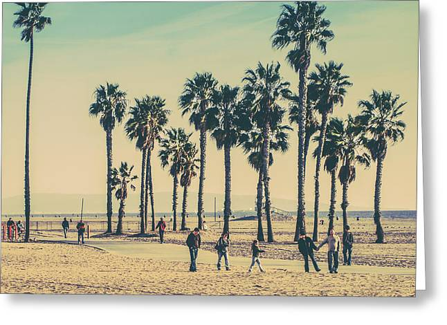 Stroll Down Venice Beach Greeting Card